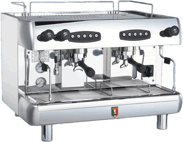 Commercial Coffee Machine Pierro Silver 2 Group Industrial coffee machine