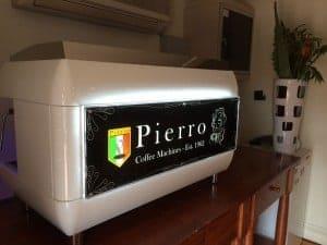 Espresso Extraction through a Naked Porta filter on a Pierro Espresso